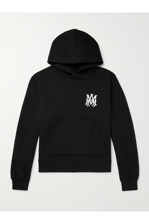 AMIRI Logo-Embroidered Loopback Cotton-Jersey Hoodie