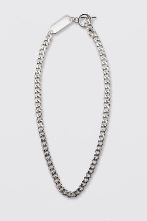 Boohoo Mens Chunky Chain Necklace With Toggle Detail