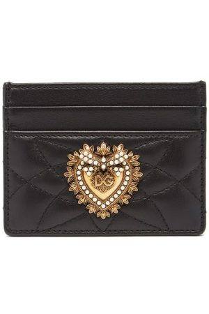 Dolce & Gabbana Devotion Quilted-leather Cardholder - Womens