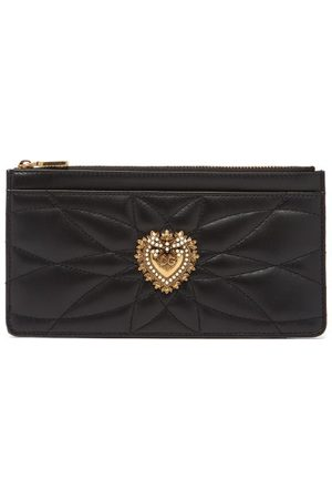 Dolce & Gabbana Devotion Zipped Quilted-leather Cardholder - Womens