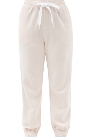 The Upside Major Logo-embroidered Cotton-jersey Track Pants - Womens - Light