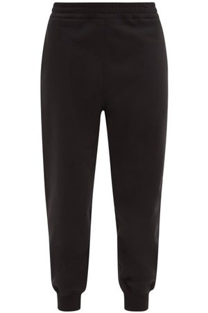 Alexander McQueen Logo-embroidered Cotton-jersey Track Pants - Womens