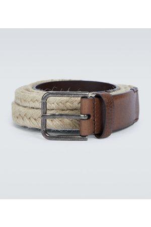 Dolce & Gabbana Men Belts - Jute and leather belt