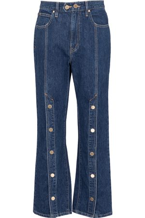 SLVRLAKE Women High Waisted - X ELLERY Stagecoach embellished jeans