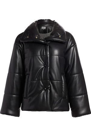Nanushka Women Winter Jackets - Hide Vegan Leather Puffer Jacket