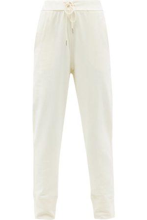 Jil Sander High-waist Drawstring Cotton-jersey Track Pants - Womens - Ivory