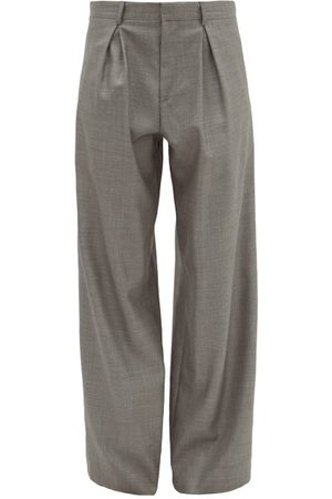 Raey Wide-leg Wool-blend Trousers - Womens