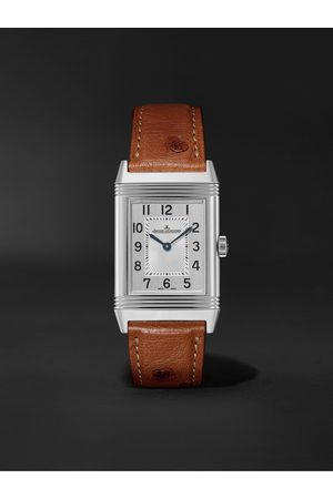 Jaeger-LeCoultre Men Watches - Reverso Classic Medium Thin Hand-Wound 24.4mm Stainless Steel and Ostrich Watch, Ref. No. Q2548441