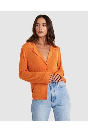 Don't Ask Amanda Women Denim - Micky Drape Shirt