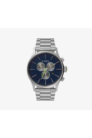 Nixon Watches - Sentry Chrono Watch Midnight Blue/ Volt Green