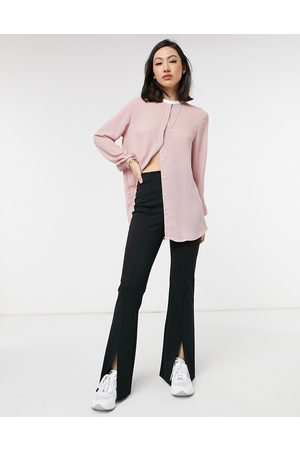 87 ORIGINS Blouse with contrast collar in pink