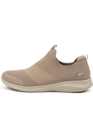 Skechers Women Casual Shoes - 12837 Ultra Flex F Taupe Sneakers Womens Shoes Casual Active Sneakers