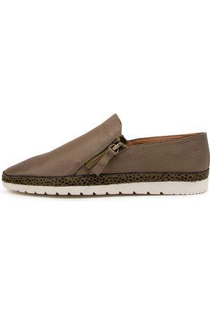 Diana Ferrari Women Casual Shoes - Ashli Df Khaki Khaki Speckle Shoes Womens Shoes Casual Flat Shoes