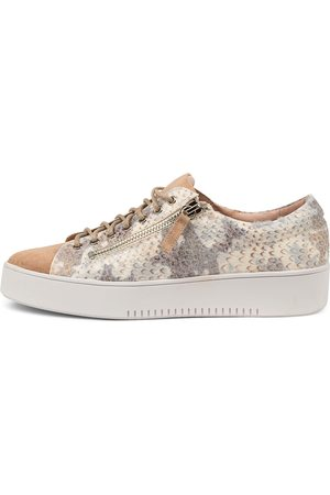 Django & Juliette Women Casual Shoes - Laila Djl Cafe Nude Multi Sneakers Womens Shoes Casual Casual Sneakers