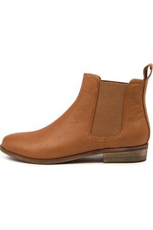 Django & Juliette Women Ankle Boots - Shona Dj Dk Tan Boots Womens Shoes Casual Ankle Boots