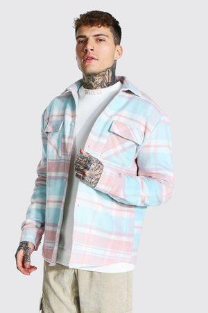 Boohoo Mens Light Pastel Check Overshirt