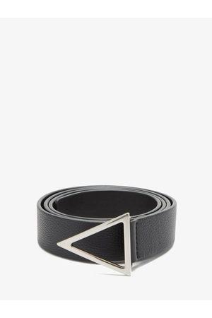 Bottega Veneta Triangle-buckle Grained-leather Belt - Mens
