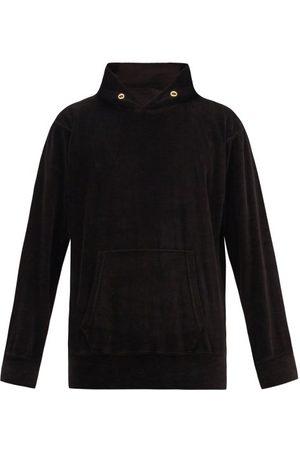Les Tien Cotton-blend Velour Hooded Sweatshirt - Mens