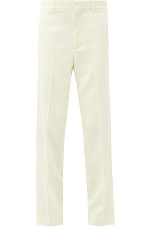 Raey Women Formal Pants - Straight-leg Wool-twill Tailored Trousers - Womens - Ivory