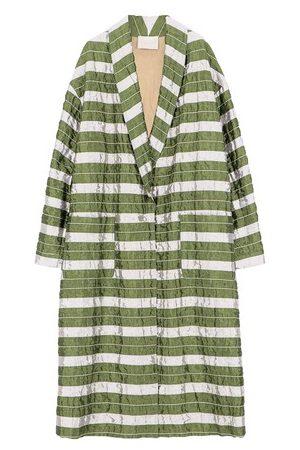 MOMONÍ Matera coat in striped matelassé taffeta