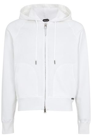 Tom Ford Jersey zipped hoodie