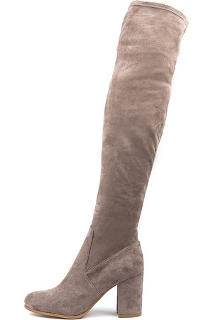 Mollini Women Knee High Boots - Woodroe Taupe Boots Womens Shoes Casual Long Boots