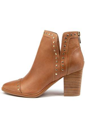 Django & Juliette Women Ankle Boots - Tayla Dj Tan Boots Womens Shoes Casual Ankle Boots