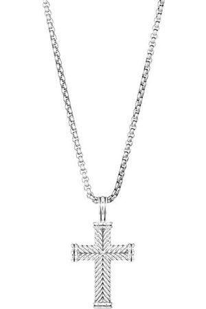 David Yurman Men Necklaces - Chevron Cross Pendant