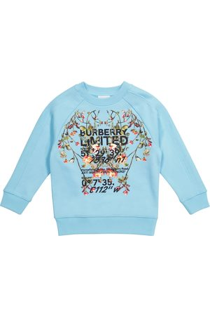 Burberry Boys Sweatshirts - Printed loopback cotton sweatshirt