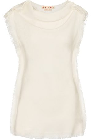 Marni Women Tank Tops - Fringed sleeveless top