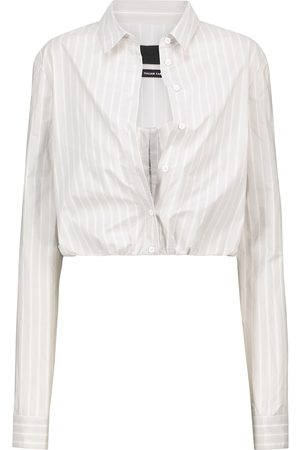 RTA Ludovica pinstriped bustier shirt