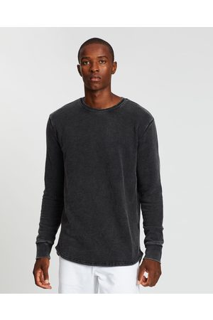 Silent Theory Men Sweatshirts - Silent Curved Hem Crew - Sweats (Washed ) Silent Curved Hem Crew