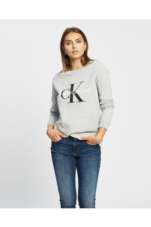 Calvin Klein Core Monogram Logo Sweatshirt - Sweats (LIGHT HEATHER) Core Monogram Logo Sweatshirt