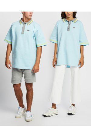 Onitsuka Tiger Knit Polo Unisex - T-Shirts & Singlets (Arctic Sky) Knit Polo - Unisex