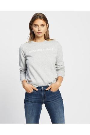 Calvin Klein Core Institutional Logo Sweatshirt - Sweats (LIGHT HEATHER) Core Institutional Logo Sweatshirt