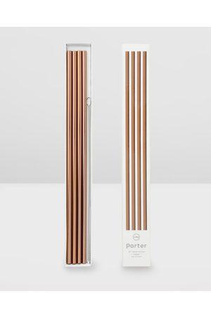 PORTER Sunglasses - Metal Straws 10 Inch - Home (Rose ) Metal Straws 10 Inch