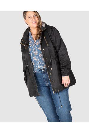 Love Your Wardrobe Women Parkas - Paris Fur Trim Anorak - Coats & Jackets Paris Fur Trim Anorak
