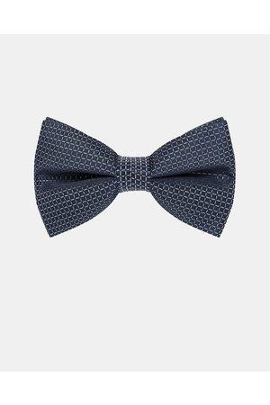 Buckle Grid Bow Tie - Ties & Cufflinks (Navy) Grid Bow Tie