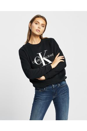Calvin Klein Women Sweatshirts - Core Monogram Logo Sweatshirt - Sweats (CK ) Core Monogram Logo Sweatshirt