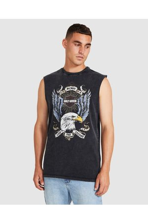 Harley davidson Men Short Sleeve - Eagle Muscle Tee Washed