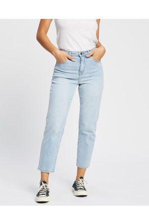 Silent Theory Women High Waisted - Cali Straight Leg Jeans - High-Waisted (Light ) Cali Straight Leg Jeans
