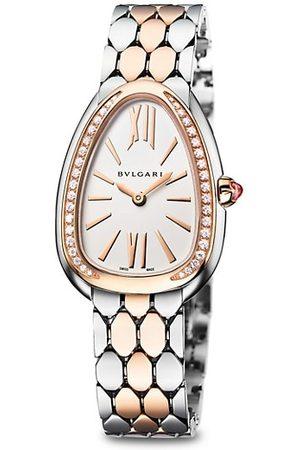 Bvlgari Serpenti Seduttori Steel, 18K 5N Rose Gold & Diamond Bracelet Watch