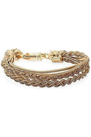 EMANUELE BICOCCHI Men Bracelets - 24K Goldplated Sterling Silver Double Braided Bracelet