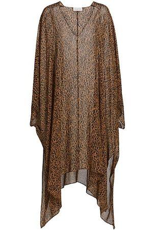 Halston Heritage Women Printed Dresses - Reyna Leopard Silk Kaftan