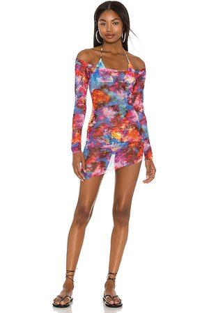 Melissa Simone Yanis Mini Mesh Dress in .