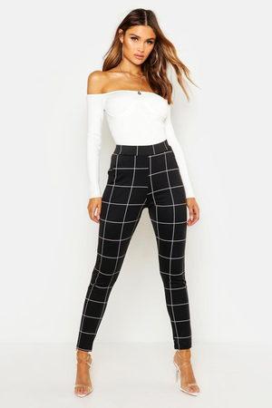 Boohoo Women Culottes - Ponte Pocket Detail Check Printed Pants