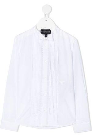 Emporio Armani Boys Long sleeves - Long sleeve pleated bib shirt