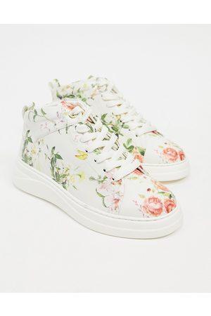 Fiorelli Pippa high top sneaker in floral-Multi