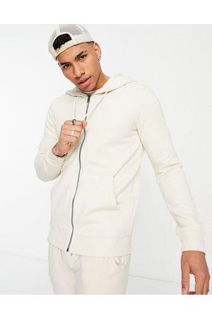 TOM TAILOR Zip hoodie in beige