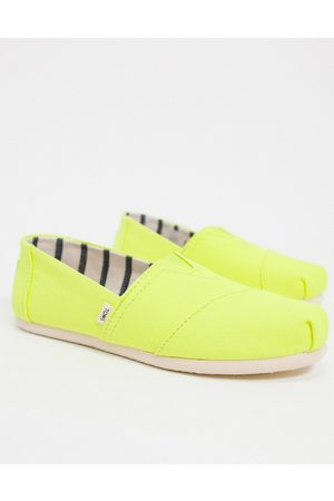 TOMS Alparagata canvas shoes in neon yellow